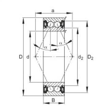 Angular contact ball bearings - 3816-B-2RZ-TVH