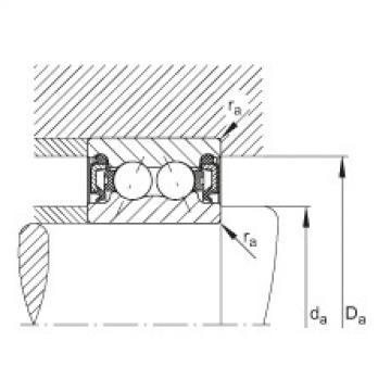 Angular contact ball bearings - 3804-B-2RZ-TVH