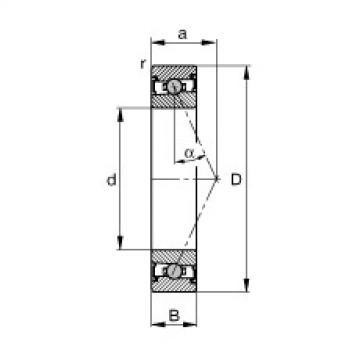 Spindle bearings - HCS71905-E-T-P4S