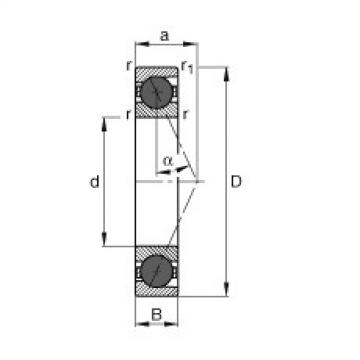 Spindle bearings - HCB7217-E-T-P4S