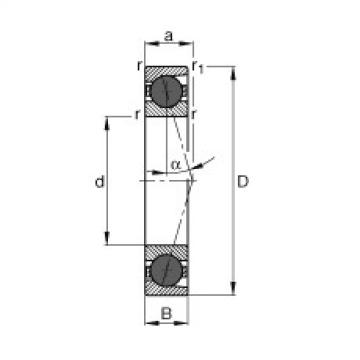 Spindle bearings - HCB7017-C-T-P4S