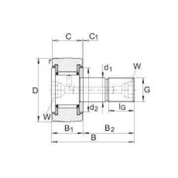 Stud type track rollers - KR22-PP
