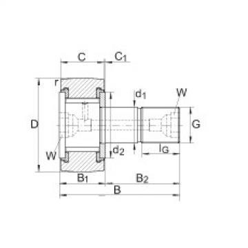 Stud type track rollers - KRV26-PP
