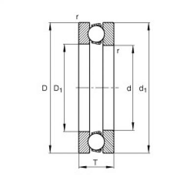 Axial deep groove ball bearings - 51164-MP