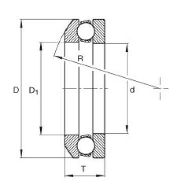 Axial deep groove ball bearings - 4104
