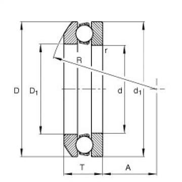 Axial deep groove ball bearings - 53312 + U312