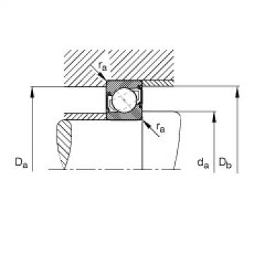 Angular contact ball bearings - 7205-B-XL-2RS-TVP
