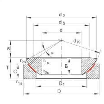 Axial spherical plain bearings - GE70-AW
