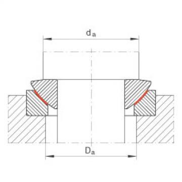 Axial spherical plain bearings - GE12-AW