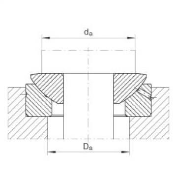 Axial spherical plain bearings - GE100-AX