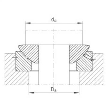 Axial spherical plain bearings - GE25-AX