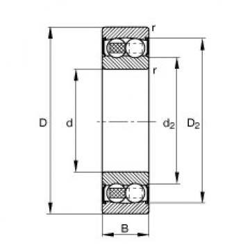 Self-aligning ball bearings - 2204-2RS-TVH