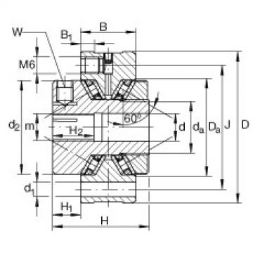 Axial conical thrust cage needle roller bearings - ZAXFM1255