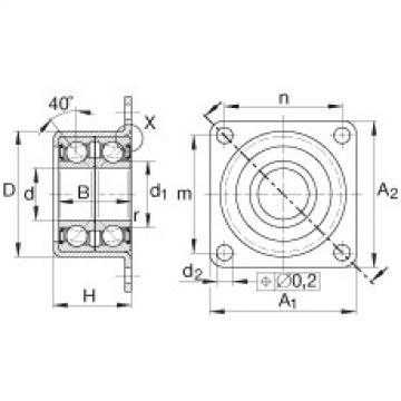 Angular contact ball bearing units - ZKLR1244-2RS