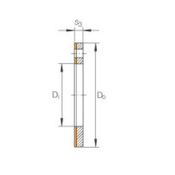 Thrust washers - EGW16-E40-B