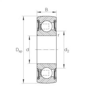 Self-aligning deep groove ball bearings - 206-XL-NPP-B