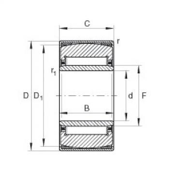 Aligning needle roller bearings - PNA25/47-XL