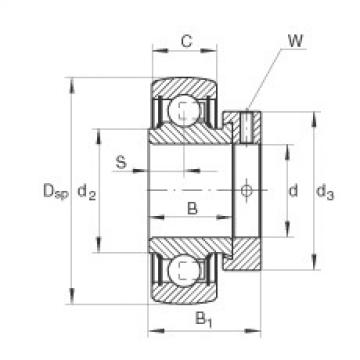 Radial insert ball bearings - RAE25-XL-NPP-B