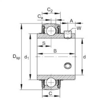 Radial insert ball bearings - UC206-18