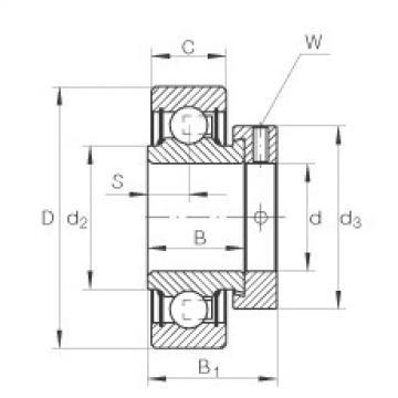 Radial insert ball bearings - RAE25-XL-NPP-FA106