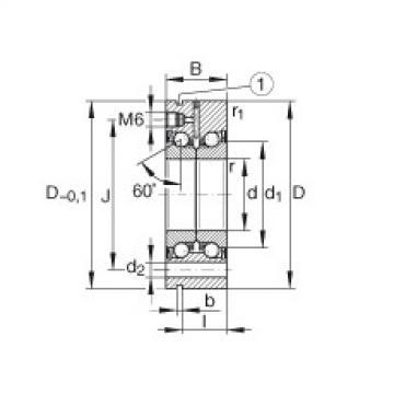 Axial angular contact ball bearings - ZKLF2068-2RS-PE