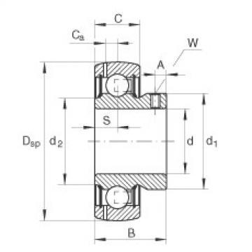 Radial insert ball bearings - GAY15-XL-NPP-B-FA164