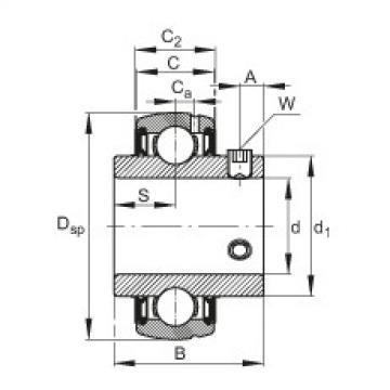 Radial insert ball bearings - SUC205