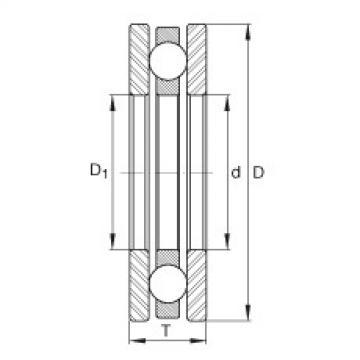 Axial deep groove ball bearings - 4406