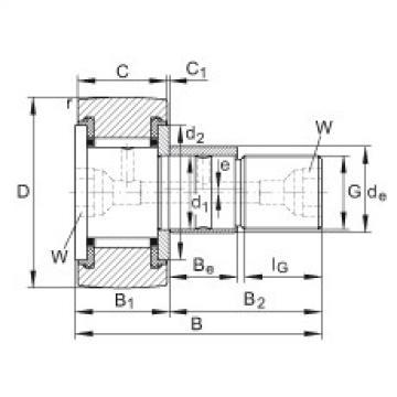 Stud type track rollers - KRE62-PP
