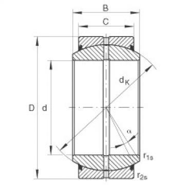 Radial spherical plain bearings - GE100-DO-2RS