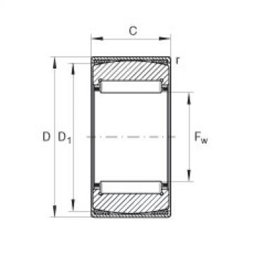 Aligning needle roller bearings - RPNA28/44-XL