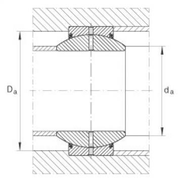 Radial spherical plain bearings - GE100-FO-2RS