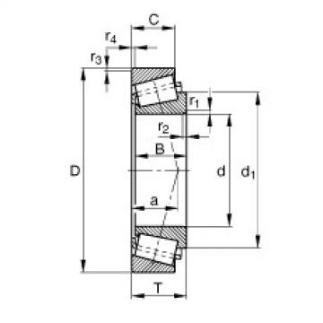 Tapered roller bearings - 32204-B-XL