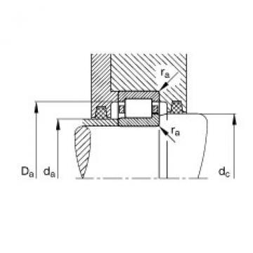 Cylindrical roller bearings - NJ219-E-XL-TVP2 + HJ219-E