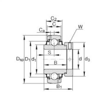Radial insert ball bearings - G1015-KRR-B-AS2/V