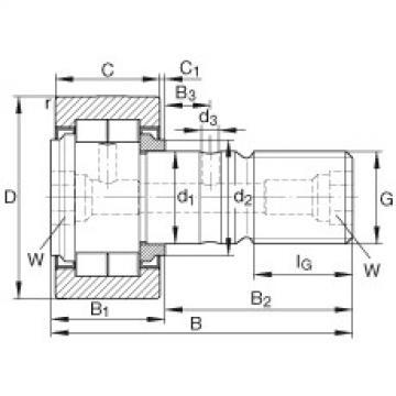 Stud type track rollers - NUKR62