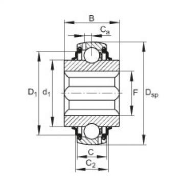 Self-aligning deep groove ball bearings - GVKE16-205-KRR-B-AS2/V-AH01
