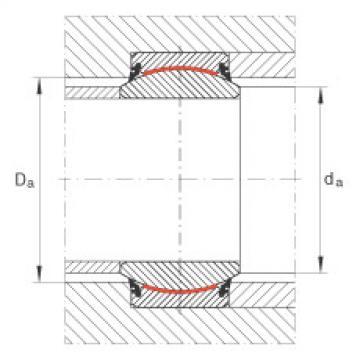 Radial spherical plain bearings - GE280-UK-2RS