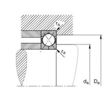 Four point contact bearings - QJ214-XL-TVP