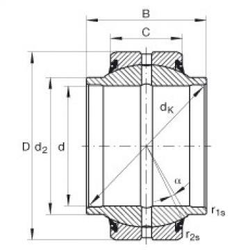 Radial spherical plain bearings - GE25-HO-2RS