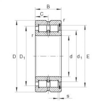 Cylindrical roller bearings - SL185016-XL
