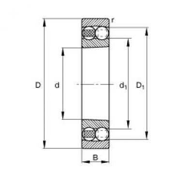 Self-aligning ball bearings - 2318-K-M-C3