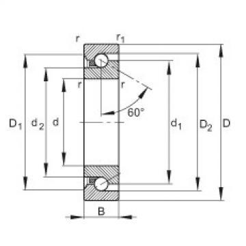 Axial angular contact ball bearings - BSB2047-SU-L055