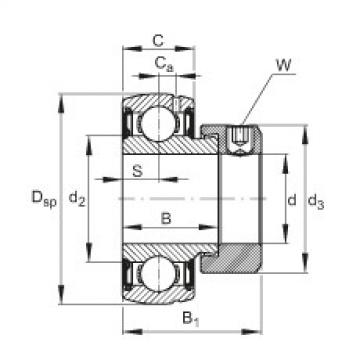 Radial insert ball bearings - SUG204