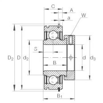Radial insert ball bearings - RAE25-XL-NPP-NR
