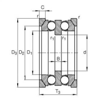 Axial deep groove ball bearings - 54322-MP + U322