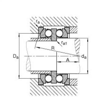 Axial deep groove ball bearings - 54222 + U222