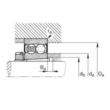Self-aligning ball bearings - 2206-K-2RS-TVH-C3 + H306