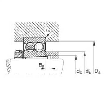 Self-aligning ball bearings - 2213-K-2RS-TVH-C3 + H313