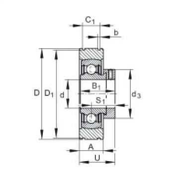 Radial insert ball bearings - PE25-XL